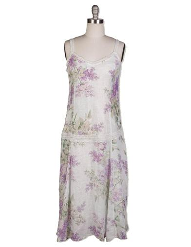 1920s Day Dresses, Tea Dresses, Mature Dresses with Sleeves April Cornell Lilac Dress Extra Extra Large $169.99 AT vintagedancer.com