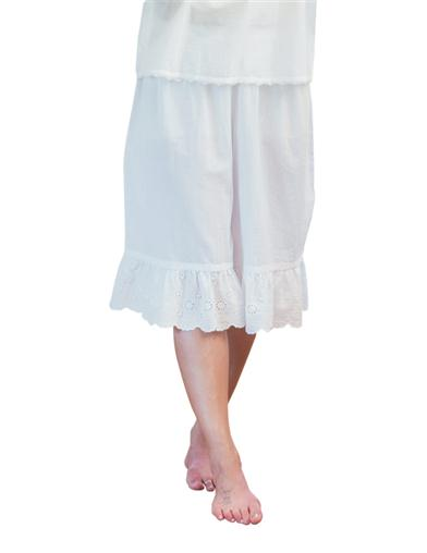 Victorian Nightgowns, Nightdress, Pajamas, Robes April Cornell Shortaloons White Extra Extra Large $59.95 AT vintagedancer.com