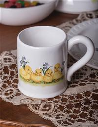 Duckling's Spring Day Mugs (Set Of 4)