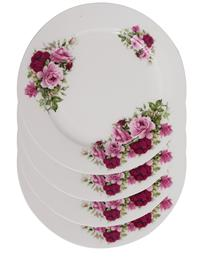 Summer Rose Plates (Set Of 4)