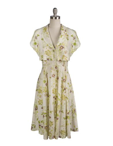 Fifties Dresses : 1950s Style Swing to Wiggle Dresses April Cornell Prairie Dress Extra Extra Large $139.95 AT vintagedancer.com