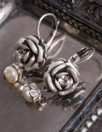 Ivory Rose Earrings