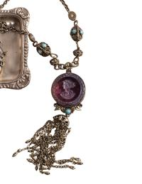 Amethyst Adamis Intaglio Necklace