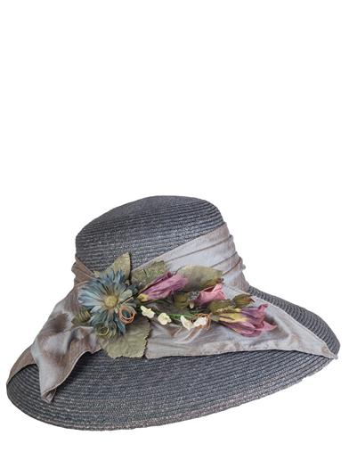 Tea Party Hats – Victorian to 1950s Watercolor Shade Straw Hat $99.95 AT vintagedancer.com