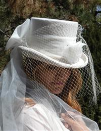 Bridal Equestrienne Top Hat