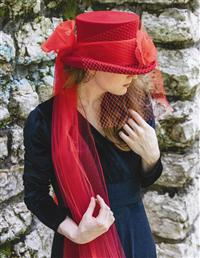 Lady Red Equestrienne Top Hat