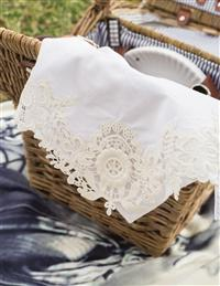 Lace Embroidered Napkins (Set Of 4)