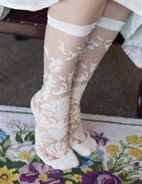 Floral Damask Trouser Socks