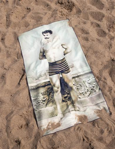 Cheeky Beach Mat (Muscle Man)