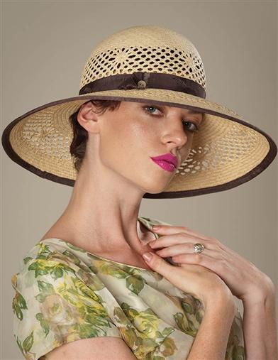 Louise Green Holiday Straw Hat