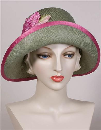 1920s Style Hats Louise Green Olive Cloche $375.00 AT vintagedancer.com