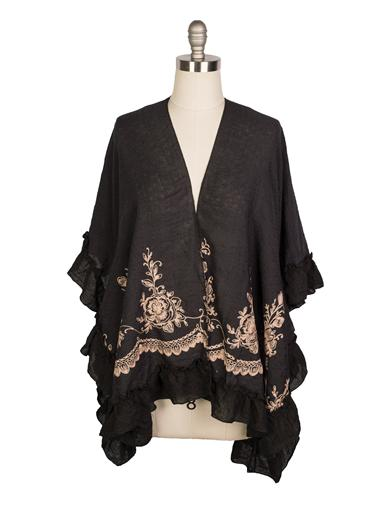 Shawls & Wraps | Vintage Lace & Fur Evening Scarves Esperanza Kimono Cardigan $34.95 AT vintagedancer.com