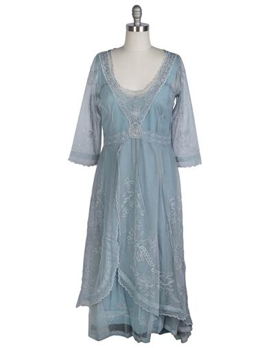 Tea Party Garden Dress (Dusk Blue)