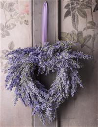 Lavender Heather Heart Wreath