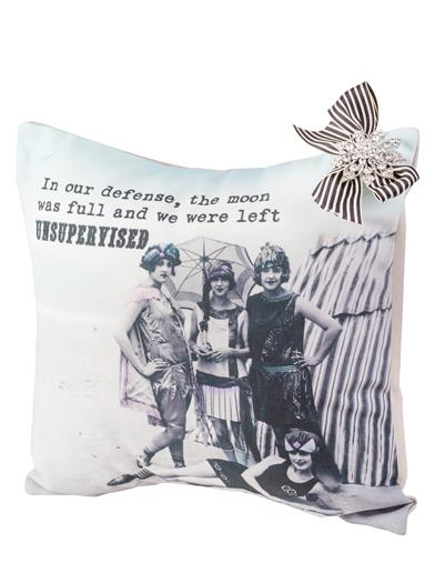 Sassy Vintage Throw Pillow