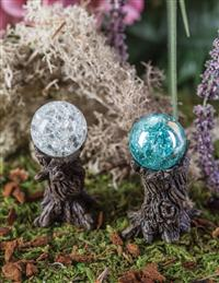 Gazing Ball Stump Stakes (Set Of 2)
