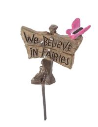 We Believe In Fairies Fairy Garden Sign