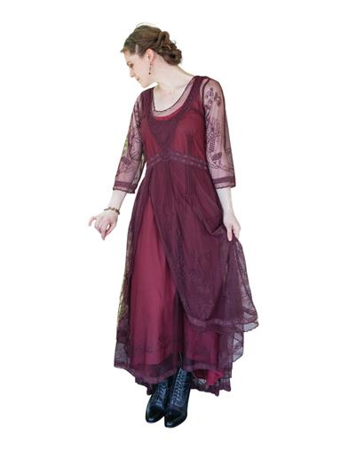 Easy DIY Edwardian Titanic Costumes 1910-1915 Tea Party Garden Dress Ruby 3X $249.95 AT vintagedancer.com