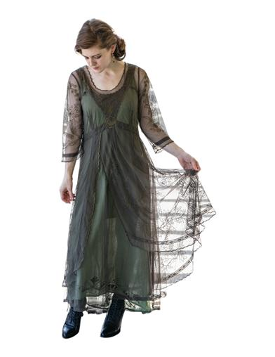 Easy DIY Edwardian Titanic Costumes 1910-1915 Tea Party Garden Dress Emerald 3X $249.95 AT vintagedancer.com