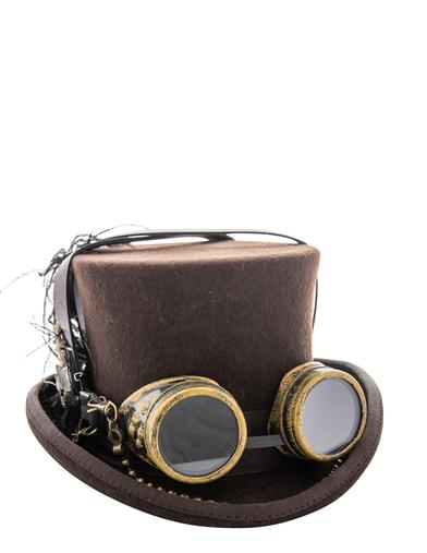 Steampunk Hats | Top Hats | Bowler Steampunk Goggles Top Hat $69.95 AT vintagedancer.com