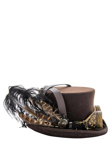 Steampunk Aviator Goggles Top Hat