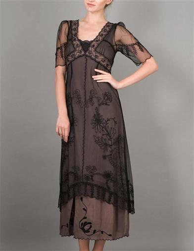 Victorian Costumes: Dresses, Saloon Girls, Southern Belle, Witch Rendezvous Dress Extra Large $199.95 AT vintagedancer.com