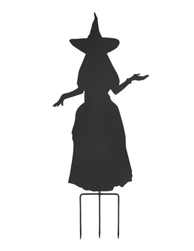 Witch Silhouette Garden Stake