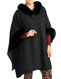 Hooded Charcoal Cape