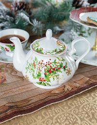 Christmas Holly Teapot