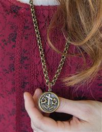 Lord's Prayer Medallion Necklace