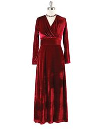 Jewel-toned Velvet Dress