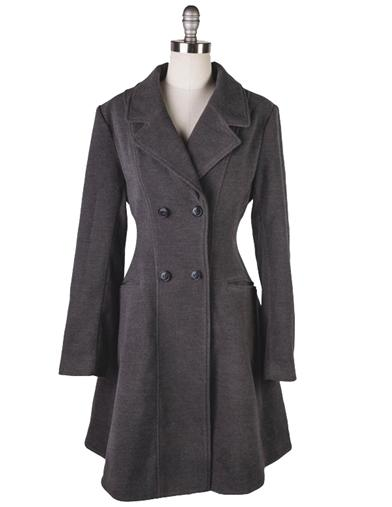 Vintage Coats & Jackets | Retro Coats and Jackets Grey Wool Riding Jacket Extra Small $119.99 AT vintagedancer.com