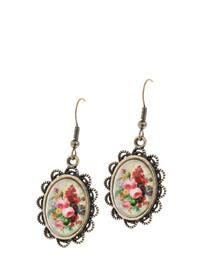 Roses Under Glass Earring
