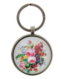 Roses Under Glass Key Chain