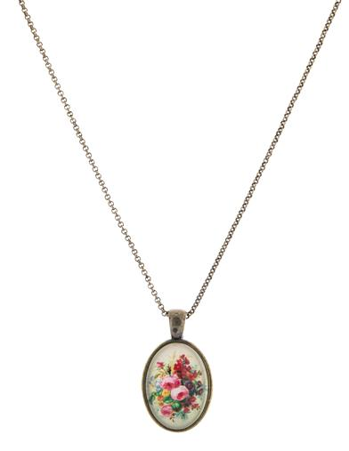 Roses Under Glass Necklace