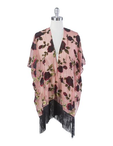 Shawls & Wraps | Vintage Lace & Fur Evening Scarves Pemberley Rose Kimono $49.95 AT vintagedancer.com