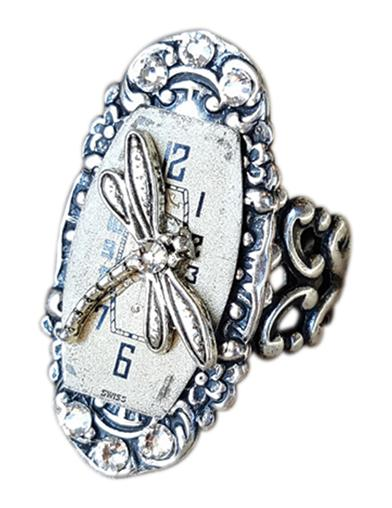 Time Flies Dragonfly Ring