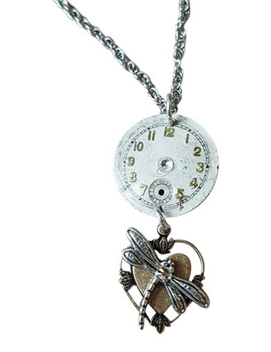 Time Flies Dragonfly Pendant