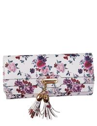 Roses Wallet With Tassels