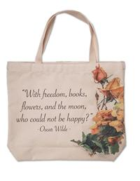 """Who Could Not Be Happy"" Roses Tote"