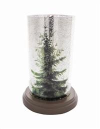 Evergreen Mercury Glass Votive
