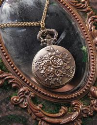 Nosegay Pocket Watch Necklace