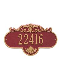 Stately & Regal Address Plaque