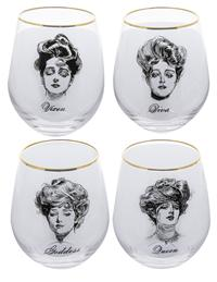 Gibson Girl Stemless Wine Glasses (Set Of 4)