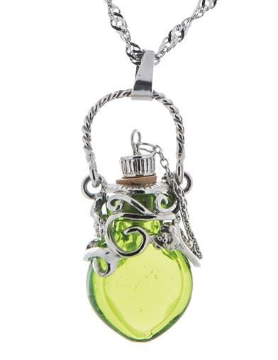 Steampunk Costume Essentials for Women The Green FairyS Essence Vial Necklace $39.95 AT vintagedancer.com