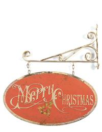 Vintage Merry Christmas Sign