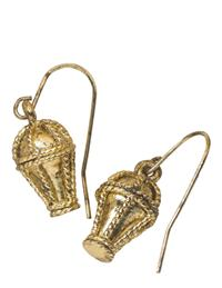 Gilded Hot Air Balloon Earrings