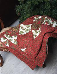 Holly & Balsam Rag Throw
