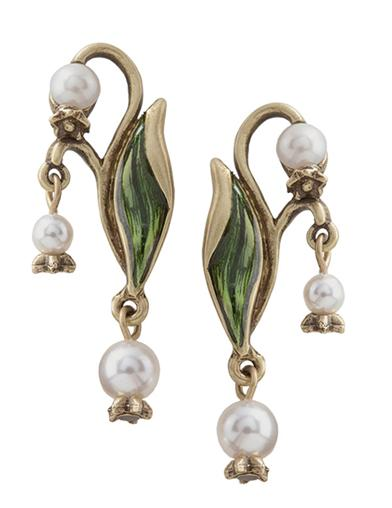 1950s Jewelry Styles and History Lily Of The Valley Earrings $44.95 AT vintagedancer.com