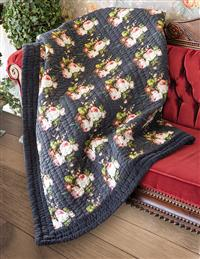 Blooming Roses Quilted Throw